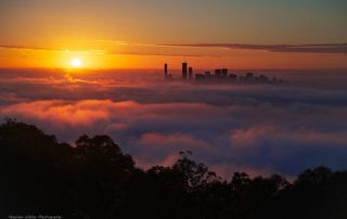 Thick fog blankets Brisbane photo credit Stephen Waller
