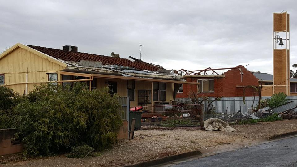 Significant damage to a home in Blyth. Image Credit: Michelle Morris