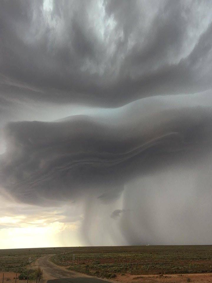 Photo of a severe storm near Woomera earlier in the day, Image Credit: SA County Fire Service