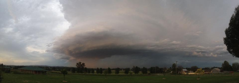 Supercell at Canowindra via Sherrie Whitty