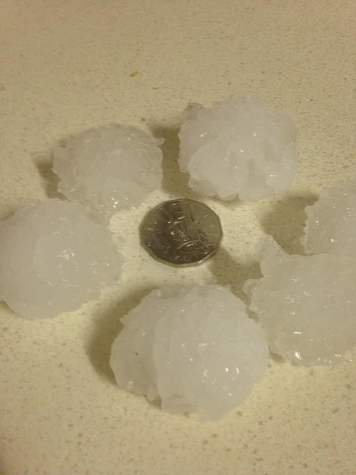 Large Hail from Young via Gin Monckton