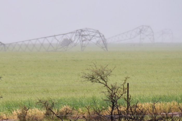 Multiple transmission towers downed near Melrose via Tom Tom Fedorowytsch