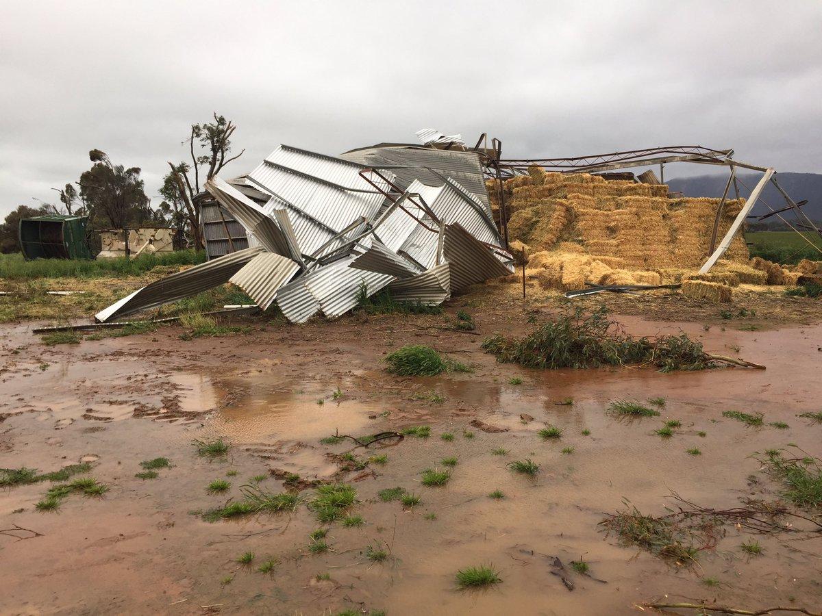 Tornado damage on a farm in Melrose. Image Credit: Tom Fedorowytsch
