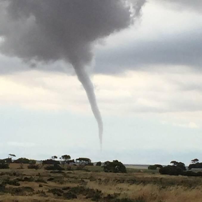 Tornado captured in Monarto, South Australia in 2015. Image Credit: Lisa Bennier