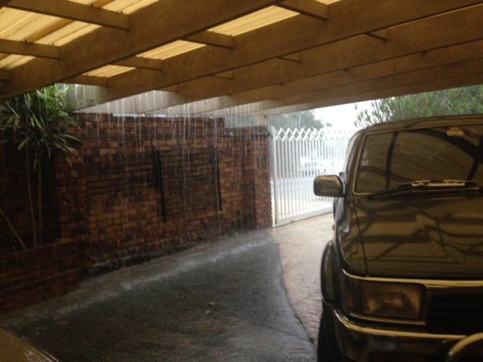"""Chucking down at Merrimac on the Gold Coast"" - image via Graham Meade"