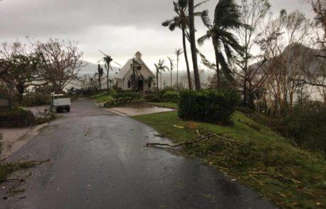 Damage on Hamilton Island via Dennis Garrett