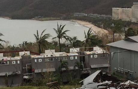 Roofs gone from villas after Debbie hits Hamilton Island via Paul Ferrante