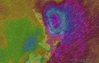 EC Forecast Wind Gusts 6pm Thursday via WindyTV