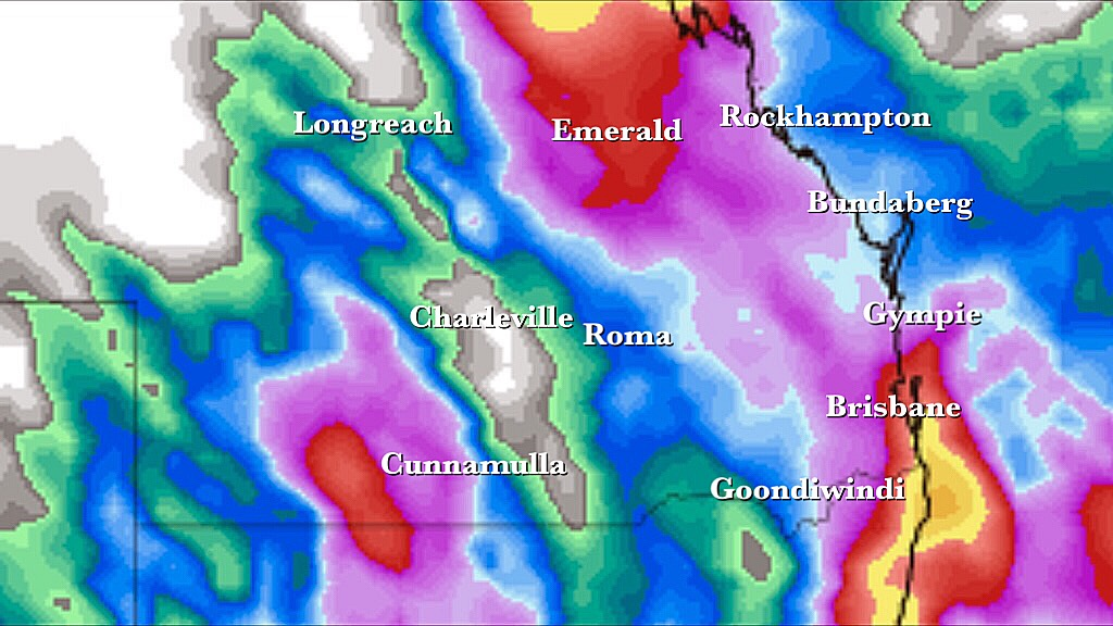 Rain And Storms Through Southern & Central QLD This Week - Higgins