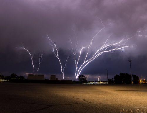 Stormchaser Captures Photos & Video Of Rare Upward Lightning