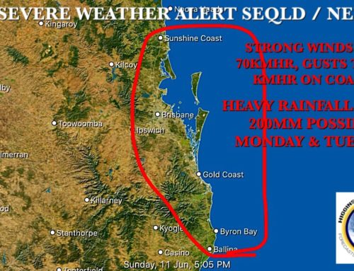 HSC Severe Weather Alert For SEQLD & NENSW