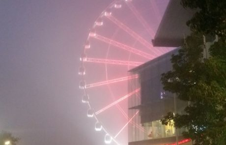 Lights from the Brisbane Wheel glowing in the cloud via Pam Brindley