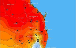 Forecast Maximum Temperatures via BSCH / OCF for Tuesday, July 18th