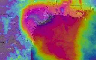 Forecast 6 day rainfall via WindyTV