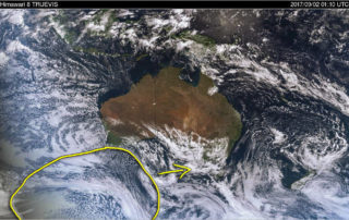 Australian Satellite showing the cold pool coming across the Bight via BSCH