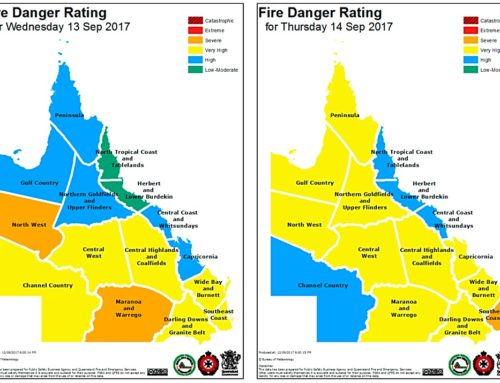 QLD Facing Very High To Severe Fire Dangers As Temps & Winds Increase