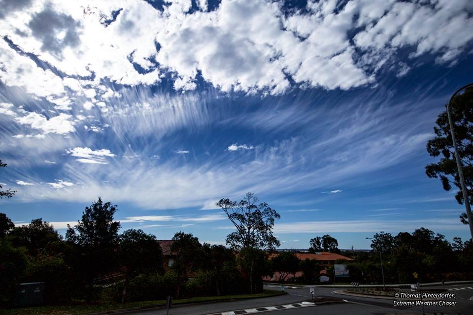 Cirrus Clouds (Uncinus) over North Brisbane via HSC Admin Thomas