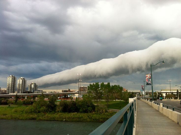 Roll Cloud captured over Alberta Canada during a cool change