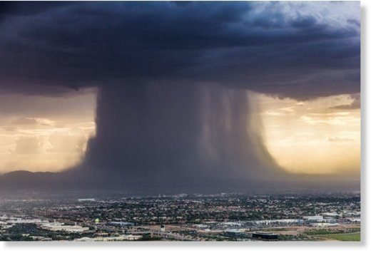 Microburst over Phoenix, Arizona in July 2016 via Jerry Ferguson