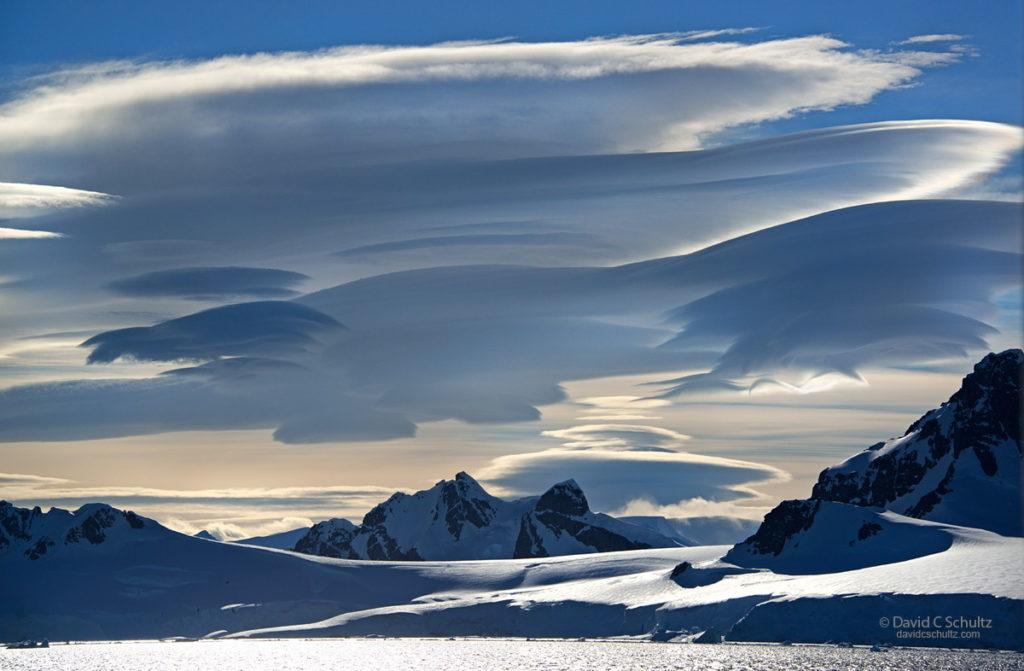 Lenticular clouds over Antarctic via David Schultz