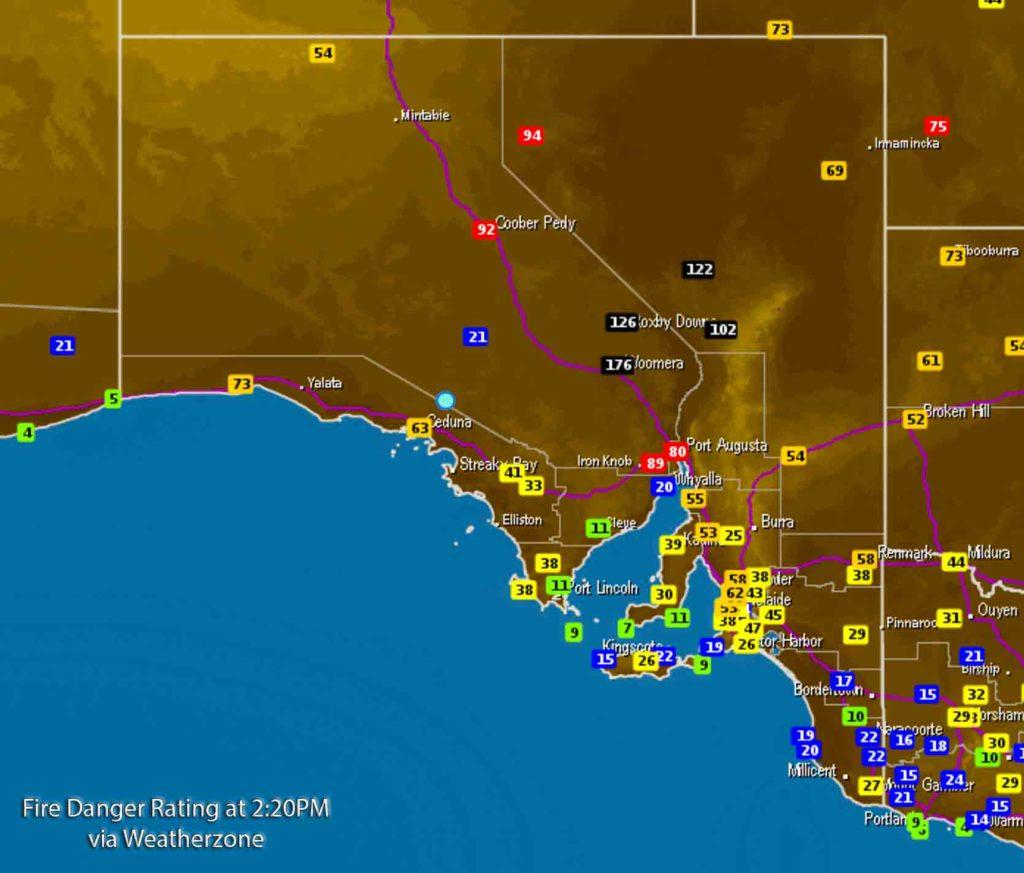 Weatherzone Radar as of 2:20PM CDT