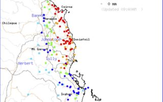 24hr rainfall totals to 9am Wednesday for NQLD.