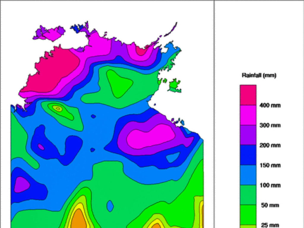 Weekly NT Rainfall via BOM