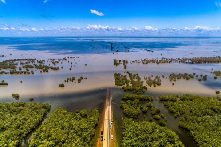 Severe flooding across Roebuck Plains, WA captured by Luke Glassington after more than 600mm in 4 days fell over the region