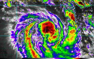 Rainbow Satellite via NOAA showing TC Iris