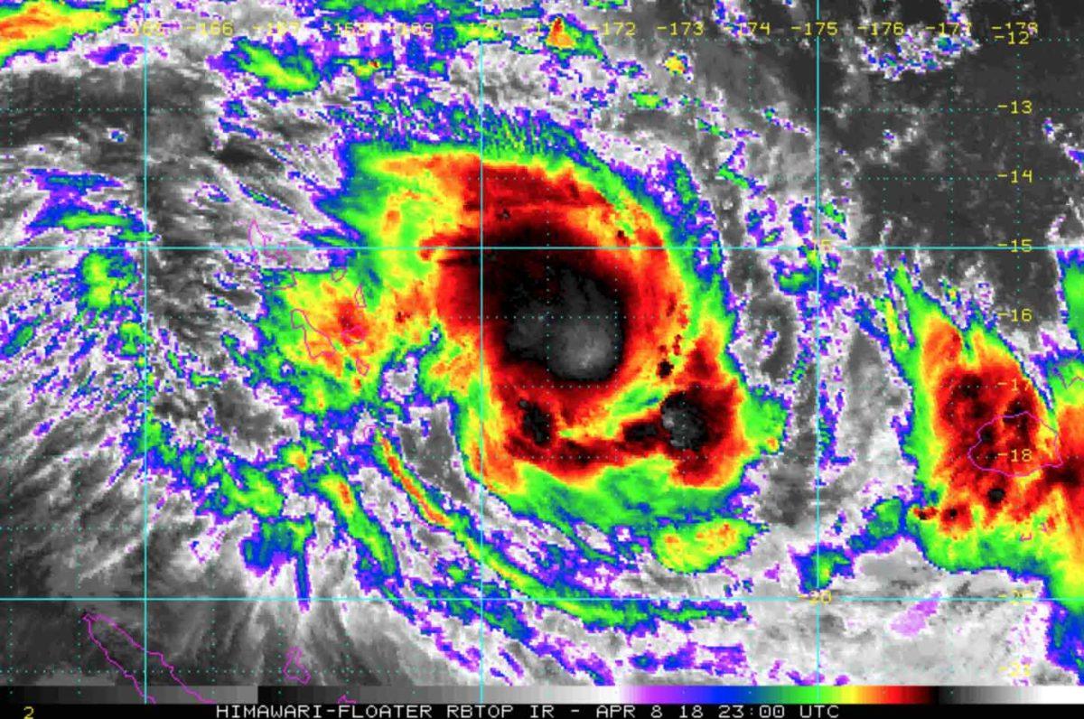 NOAA Satellite imagery of Tropical Cyclone Keni near Vanuatu