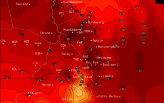 OCF Forecast Maximums for Sunday via BSCH