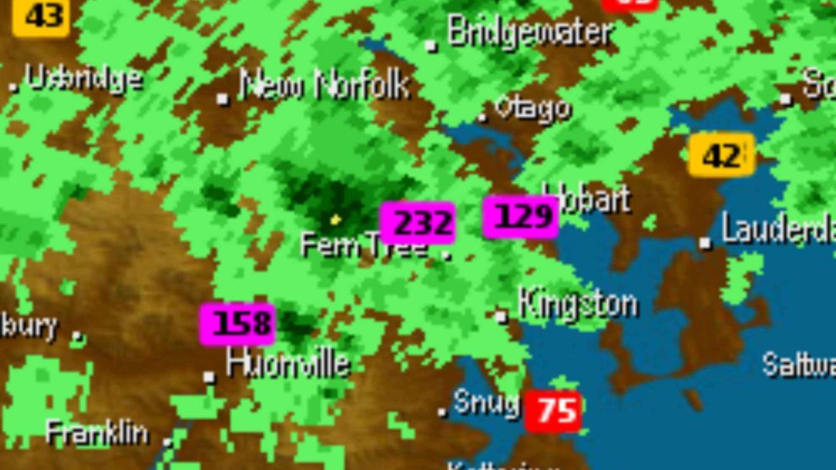 Hobart Mt Wello Rain