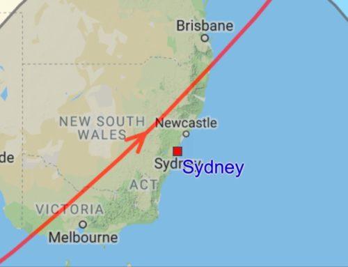 Space Station Visible Over Brisbane, Sydney, Canberra, Melbourne!