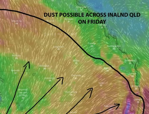 Dust possible across QLD and likely across NSW on Friday