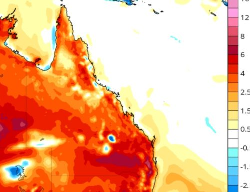Above average July maximums for QLD