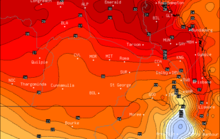 OCF Forecast Maximums for Saturday via BSCH / OCF